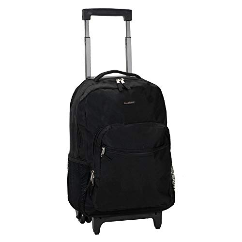 Rockland Double Handle Rolling Backpack,...