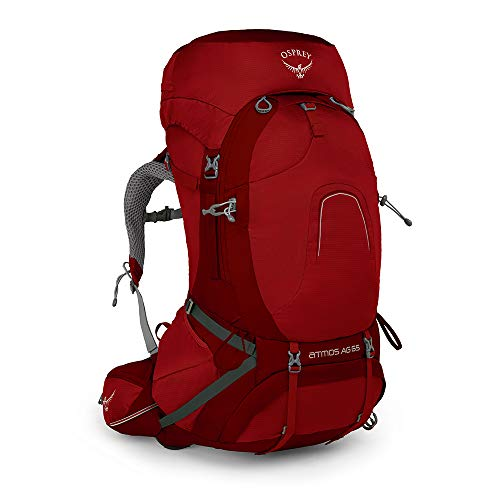 Osprey Atmos Ag 65 Backpack, Rigby Red,...
