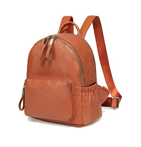 Mini Backpack Purse,Vaschy Faux Leather Small...