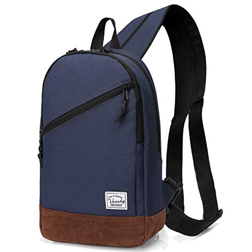 Sling Bag,Vaschy Mini Backpack Two Ways to...