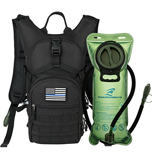 SHARKMOUTH Tactical MOLLE Hydration Pack...