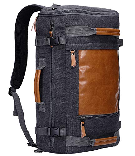 WITZMAN Men Canvas Backpack Large Travel...