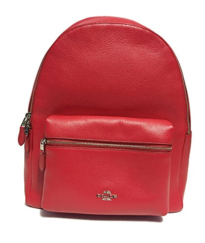 Coach Charlie Pebble Leather Backpack F38288...