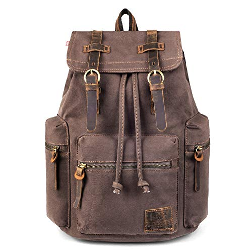 Canvas Vintage Backpack, PKUVDSL Mens...