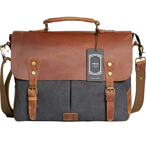 Wowbox Messenger Satchel Bag for Men and...