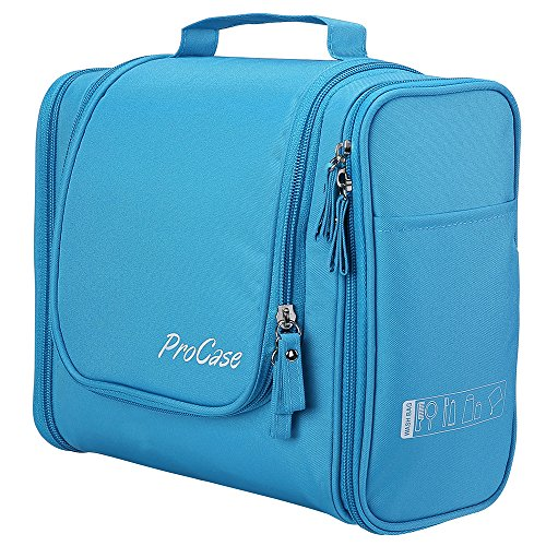 ProCase Toiletry Bag with Hanging Hook,...
